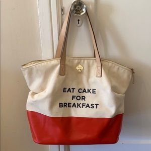 Kate Spade Call to Action Eat Cake for Breakfast